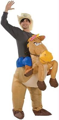Riding Horse Costume (ADULT COWBOY RIDING HORSE ILLUSION INFLATABLE COSTUME)