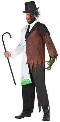 Mens Mans Mad Scientist Jekyll & Hyde Halloween Fancy Dress Costume Outfit M-XL