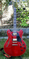 Peavey JF1EX Semi-Hollow Cherry Red with upgrades and HSC