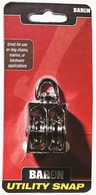 New Baron C-0178zd-34 34 Double Sheave Swivel Eye Rope Pulley