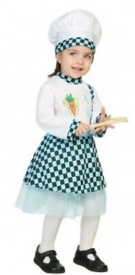 Baby Chef Outfit (Baby Girls Cook Chef Job Carnival Book Day Halloween Fancy Dress Costume)