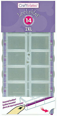 Craft Mates Lockables Acrylic Double Organizer ~ 14 Compartments 2xL