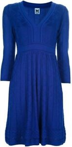 Robe bleue MISSONI blue knit dress