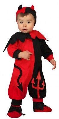 Baby Kleinkind Jungen Mädchen Rot Schwarz Teufel Halloween Kostüm Kleid Outfit