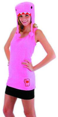 Pink Ladies Costume Women (Pink Domo Adult ladies womens Costume Kit NEW Hat)
