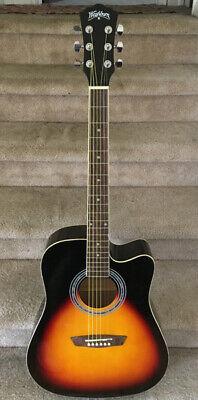 Washburn Electric-Acoustic Dreadnought Cutaway Guitar w/Gigbag