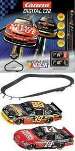 Carrera Nascar Daytona 500 1/32 Digital Slot Car Set  w/ 2 cars # 30153