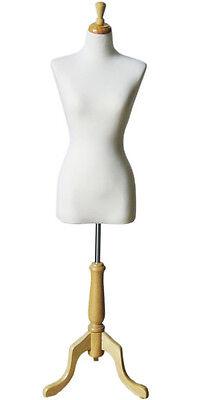 Mn-503 White Junior Ladies Dress Form - Pinnable Sizes 2-4 Xs Or Girls 14-16