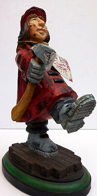 """FIREFIGHTER FIGURINE """"FIRE LADY IN COAT WITH AXE"""" DAVID FRYKMAN #DF3912"""