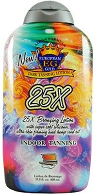 European Gold 25X Bronzer 13.5oz Tanning Bed Lotion  *NEW*