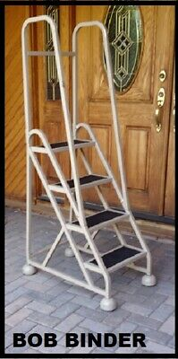 Cotterman Steel Industrial Rolling Ladder 4-step 17 Wide X 8 Deep Steps