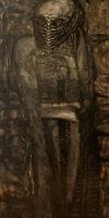 peinture toile hommage à H R Giger oeuvre de LBGionet