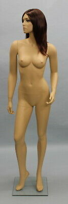 New 5 Ft 10 In Female Mannequin Skintone Face Make Up Torso Body Form Sfl-614ft