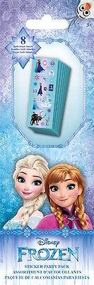 8 Strips Disney Princess Frozen Elsa Anna Olaf Stickers Party Favors Teacher (Frozen Party Favors)