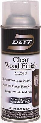 NEW DEFT 010-13 12 OZ SPRAY GLOSS LACQUER CLEAR WOOD FINISH SEALER 2409589 Spray Wood Finish