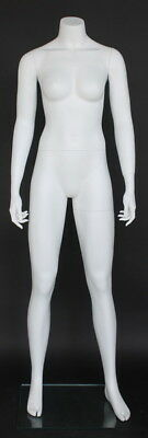 5 Ft 4 In Female Headless Mannequin Matte White New Athletic Style Stw001wt-new