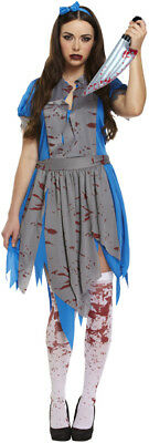 Ladies Horror Alice In Zombieland Fancy Dress Up Party Halloween Zombie - Zombieland Costumes Halloween