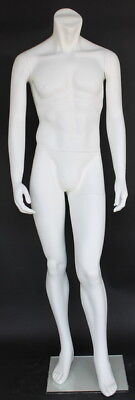 5 Ft 8 In Tall Male Headless Mannequin Form Body White Colored -stm003wt New