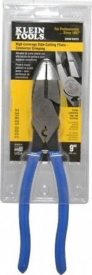 Klein Tools 9-38 Oal Crimping Pliers Plastic Dipped Soft Grip Handle