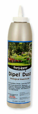 Dipel Insecticide dust, Biological worm control, veg. insecticide, BT 1 or 4lb (Dipel Dust)