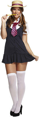 Sexy School Girl St Trinians Plus Size Fancy Dress Costume Outfit Size 12 - 18 ()