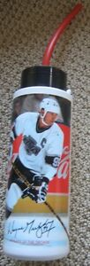 Wayne Gretzky Coca Cola Water Bottle with straw