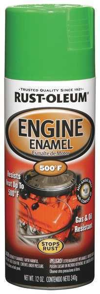 RUST-OLEUM 248951 Engine Enamel,Grabber Green,12 oz,Spray