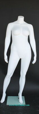 5 Ft 6 In H Plus Size Female Headless Mannequin Matte White New Style Plus-3
