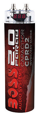 Boss Audio CPRD2 2 Farad Capacitor Red Color Low $$ L@@K
