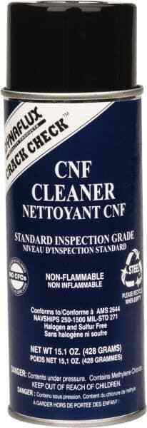 Dynaflux Crack Detection NDT Nonflamable Cleaner 16 Ounce Aerosol Can