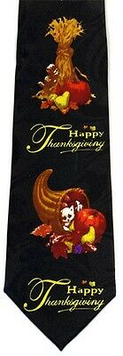 NEW! Happy Thanksgiving Harvest Pumpkins Seasonal Holiday Novelty Necktie  1788