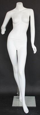 5 Ft 4 In H Female Headless Mannequin Matte White New Style Mannequin Stw004wt