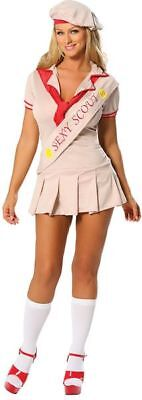 New Sexy Halloween Adult Women's Scout Girl Costume Size Sm / Med Sizes 2 - - Girl Scout Kostüm