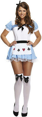 rland Ladies Adult Fancy Dress Costume Fairytale Outfit Girl (Adult Alice)