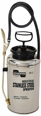 Chapin 2 Gal Garden Hand Sprayer Stainless Steel Tank Wide Mouth Reinforced...