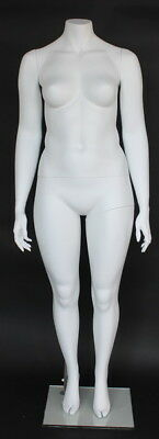 5 Ft 6 In H Plus Size Female Headless Mannequin Matte White New Style Plus-5