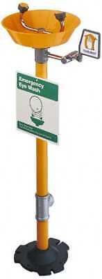 PRO-SAFE Pedestal Mount, Plastic Bowl, Eyewash Station 1/2 Inch Inlet, 30 psi... (Safe Pedestal)