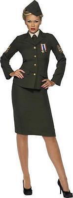 Offizier Krieg Armee Retro Sexy (Armee Frauen Kostüm)