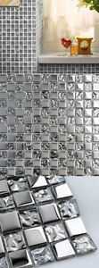 Glass tile puzzle background wall mirror ceramic