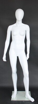5 Ft 4 In H Small Size Adult Full Size Female Mannequin Abstract Head Cf17e-wt