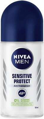 6x Nivea Men SENSITIVE PROTECT Deo-Roller Anti-Transpirant 48H 50ml