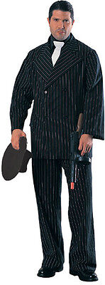Mafia Gangster Pinstripe Suit Mens Halloween Costume The Don Medium Al Capone](Pinstripe Suit Costume)