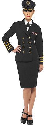 Damen Marineoffizier Marineblau Matrose Militär Uniform Henne Kostüm - Matrosen Outfit Damen