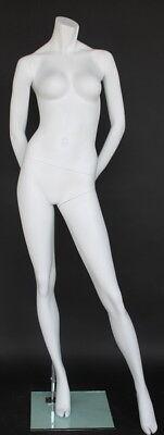 5 Ft 7 In H Female Headless Mannequin Matte White New Style Mannequin Stw106wt