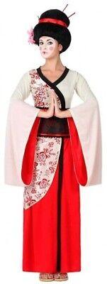 Ladies Long Japanese Geisha Carnival Halloween Fancy Dress Costume Outfit 8-18](Geisha Halloween Outfit)