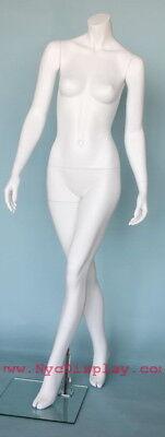 5 Ft 4 In H Female Headless Mannequin Matte White New Style Mannequin Stw113wt