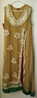 Pakistani / Indian Dress - Light Brown & Gold