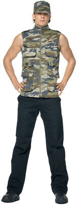 Chuck Norris Delta Force Army Sergeant Camouflage Camo Mens Funny Costume XL