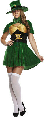 Ladies Lucky Sexy Leprechaun Costume Irish St Patrick's Day Fancy Dress Outfit](Lucky Lady Costume)