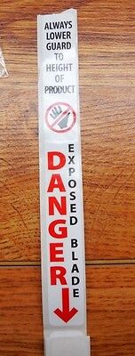Blade Guard Danger Safety Decal Fits All Biro Hobart Model Meat Saws